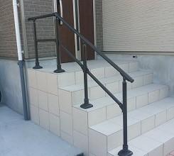 階段手すり取付工事 (流山市)
